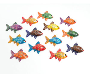 Lime Tree Fish Wall Plaque