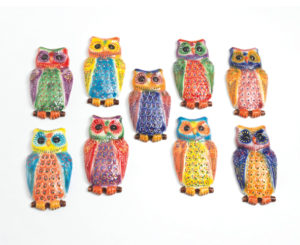 Lime tree owl wall plaque