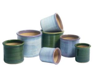 Naylor Clough Mill cylinder pots leaf and mist